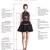 Charming A-Line V-Neck Sweep Train Dark Grey Lace Prom Dress, Pretty Elegant