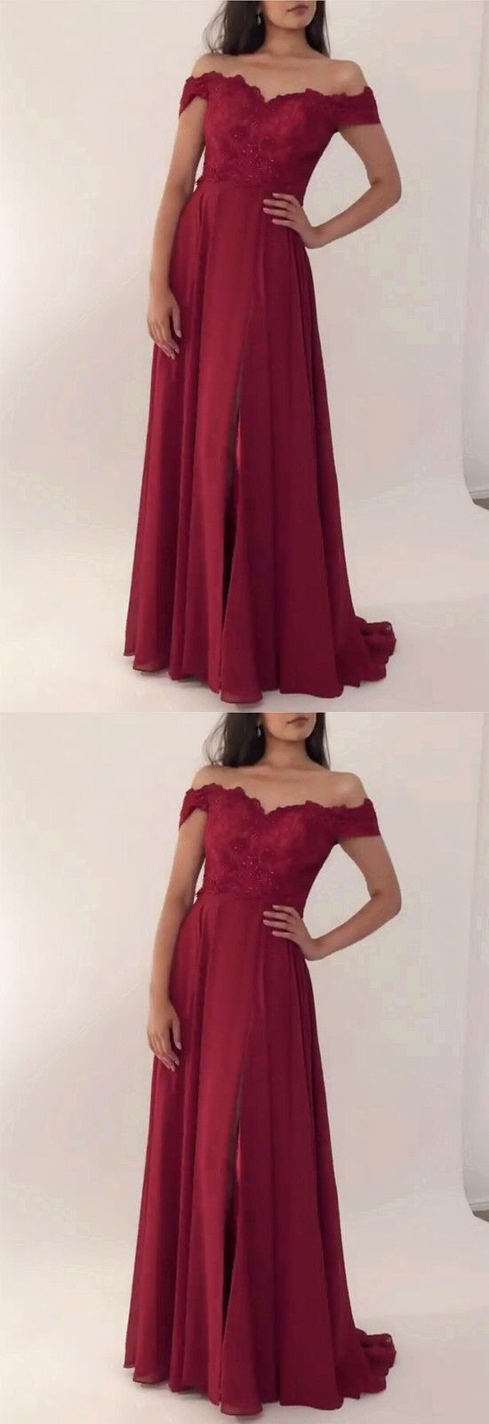 long burgundy bridesmaid dresses off the shoulder evening gowns