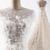 Stylish long tulle open back wedding dress, long 3D appliqués evening dress
