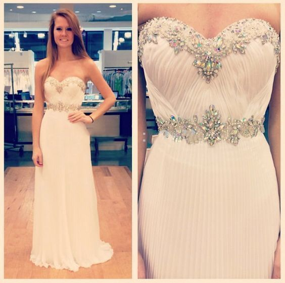 New Arrival Long Prom Dresses With Crystals,A Line Light Pink Prom