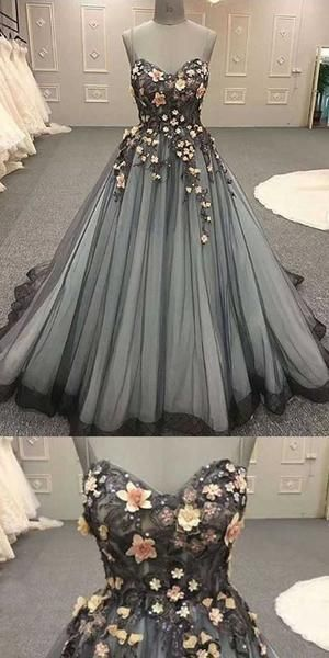 Gorgeous Spaghetti Strap Sweetheart Ball Gown Long Prom Dresses