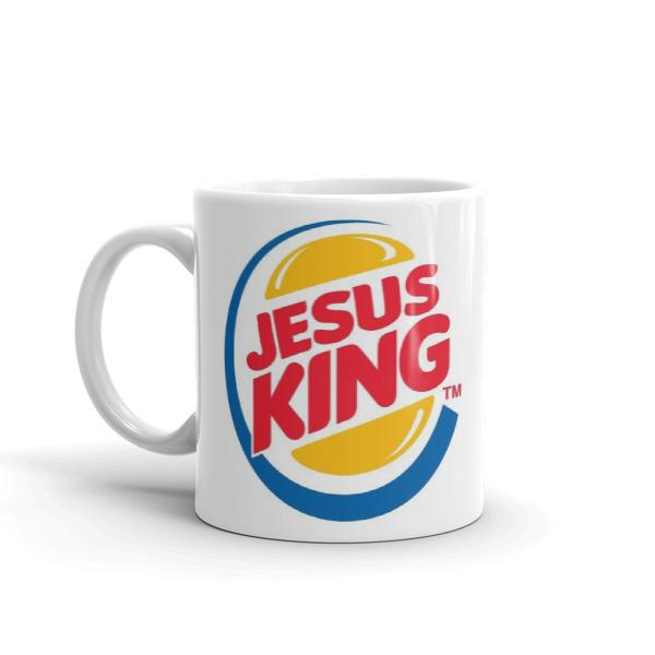 JESUS KING coffe mug,christian gift,tea cup, cool