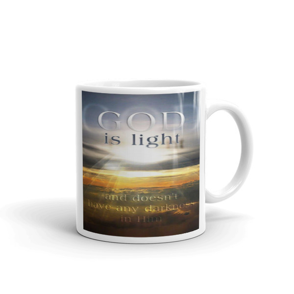 GOD is Light and doesn't have any darrkness in Him coffee mug