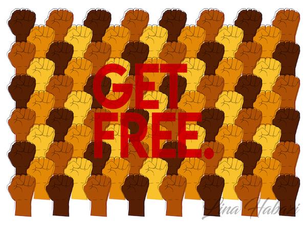 """GET FREE."" Print"