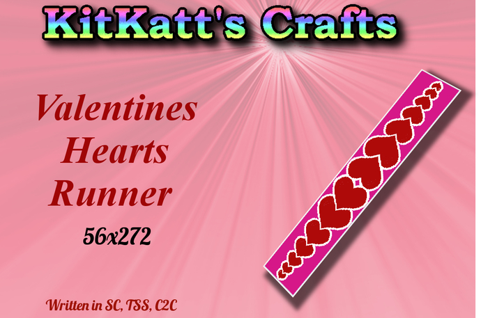Valentines runner Hearts