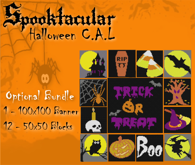 Halloween block set 2