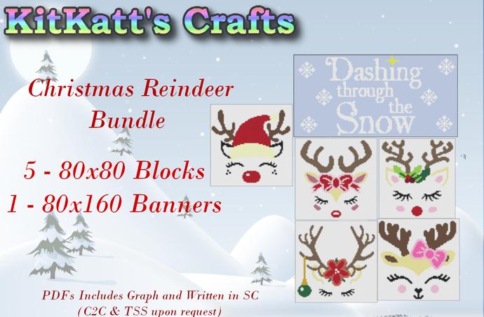 Reindeer Faces block set