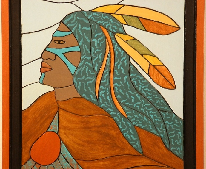 Southwest Wall Art, Indian, Home Decor, Wall Hanging