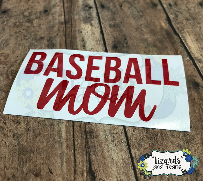Baseball Mom Decal   Baseball Decal   Sports Mom Decal   Sports Mom   Mom Decal