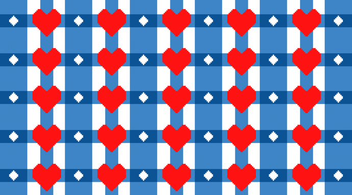 Hearts and Diamonds   , graph and written pattern only
