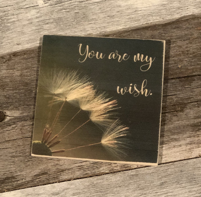 Dandelion You Are My Wish Wood Magnet