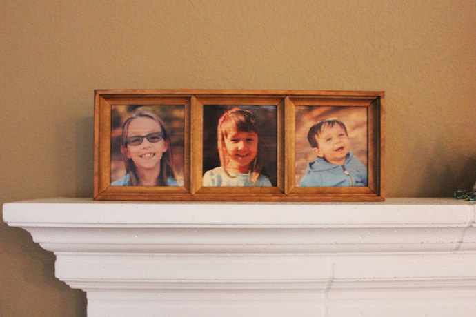 Personalized Triple Photo Frame