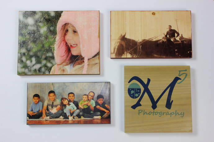 5 x 5 Inch Wood Photo Panel - Your Photos on Wood!
