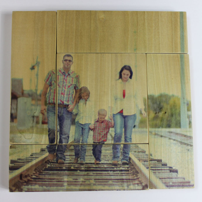 12x12 inch Photo Panel (Made from 5 smaller panels to create a unique look) -