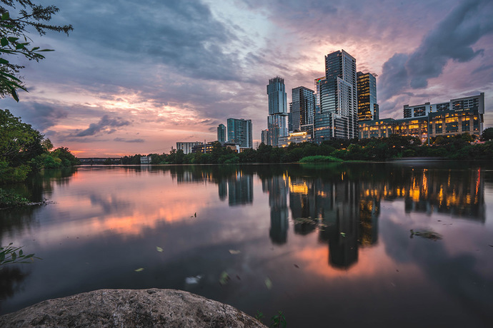 Austin Waterfront Sunset