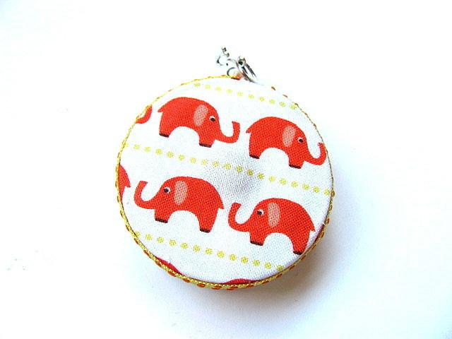 Tape Measure with Orange Elephants Retractable Measuring Tape
