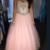 Crystal Tulle Homecoming Dress, Pink Long Prom Dress