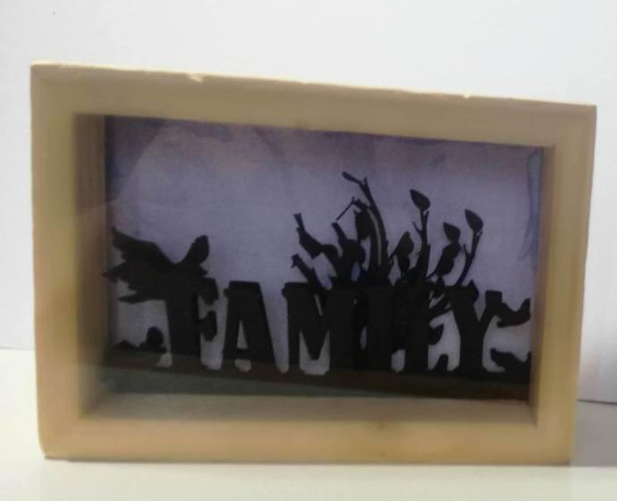 Family Box Wooden Frame- WBS002
