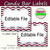 Candy Buffet Labels Chevron Burgundy Print EDITABLE Card, Custom Candy, Popcorn,