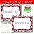 Candy Buffet Labels Chevron Red Black Print EDITABLE Card, Custom Candy,