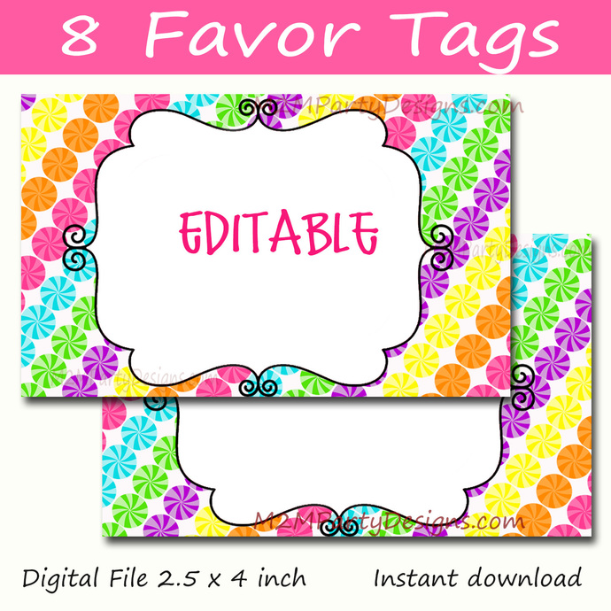 image regarding Printable Party Decorations titled Sweet Land Like Tags,CandyLand Sweet Labels, Printable Occasion Decorations, Room Playing cards Immediate Obtain sat of 8
