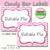 Candy Buffet Labels Chevron Pink Print EDITABLE Card, Custom Candy, Popcorn,