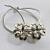 Flower Heart Button Ponytail Holder