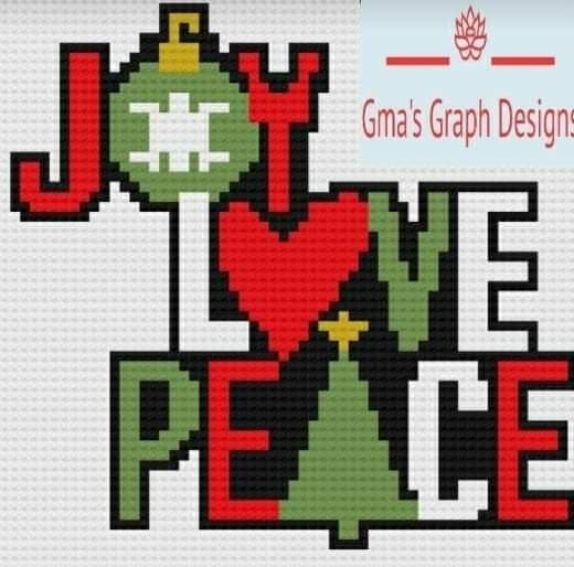 Joy, Peace & Love Pillow