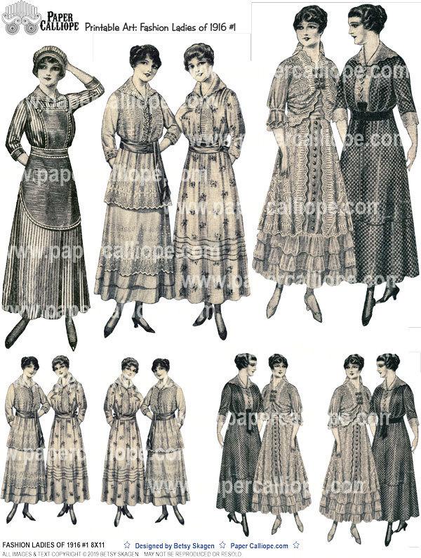 FASHION LADIES OF 1916 #1