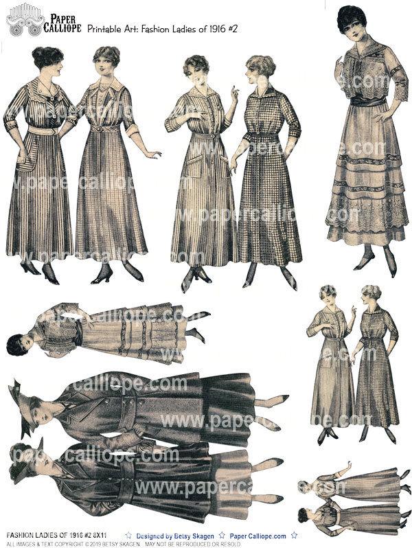 FASHION LADIES OF 1916 #2