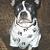 Paw Print Dog Shirt White Fleece M, L