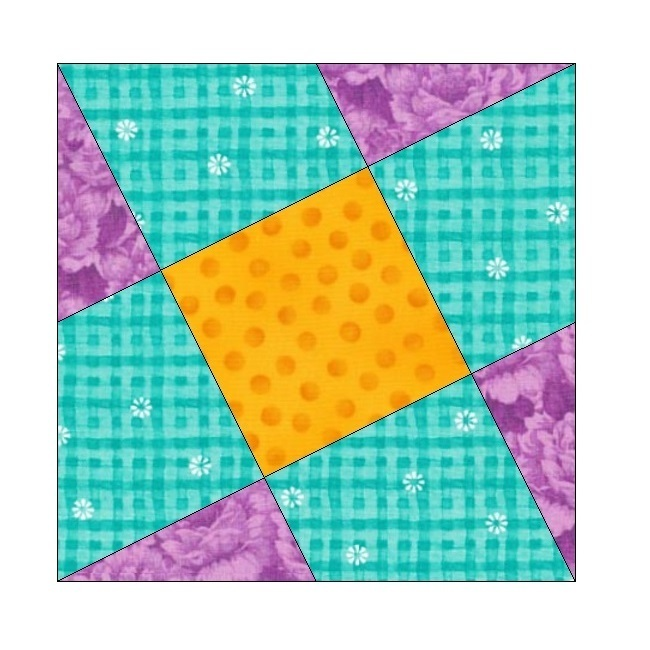 ALL STITCHES - ON THE SLANT PAPER PIECING QUILT BLOCK PATTERN .PDF -117A