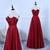 Burgundy Satin New Style Prom Dress 2019, Beautiful Long Party Gown