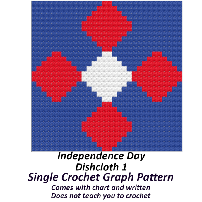 Independence Day Dishcloth 30x30