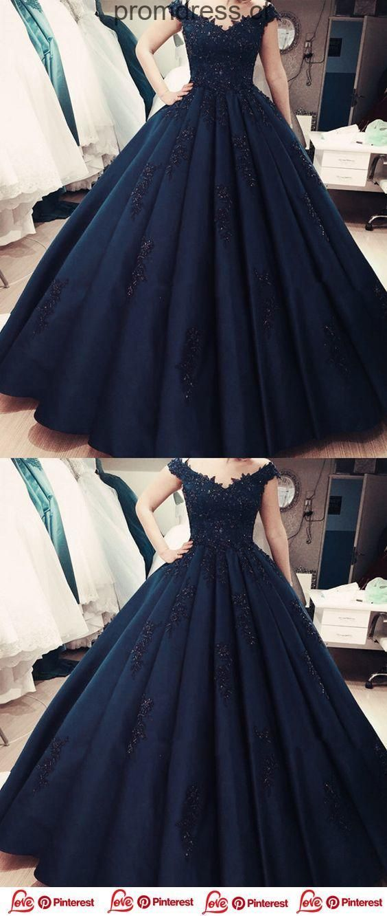 917aa9f1c22 Charming Navy Blue Appliques Quinceanera by fancygirldress on Zibbet
