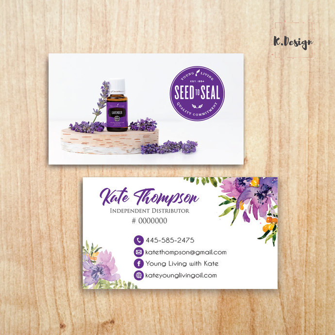 Young Living Business Cards, Custom Business Card, Printable File, Personalized