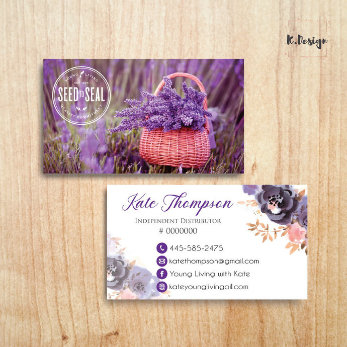 Young Living Business Cards, Personalized YLEO Business Cards, Printable File,