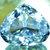 38.15 cts Curved Trillion Cut Flawless Aqua Color Natural Kunzite Gemstone ~ 22