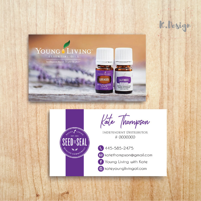 Young Living Business Cards, Printable File, Custom Business Card, Personalized
