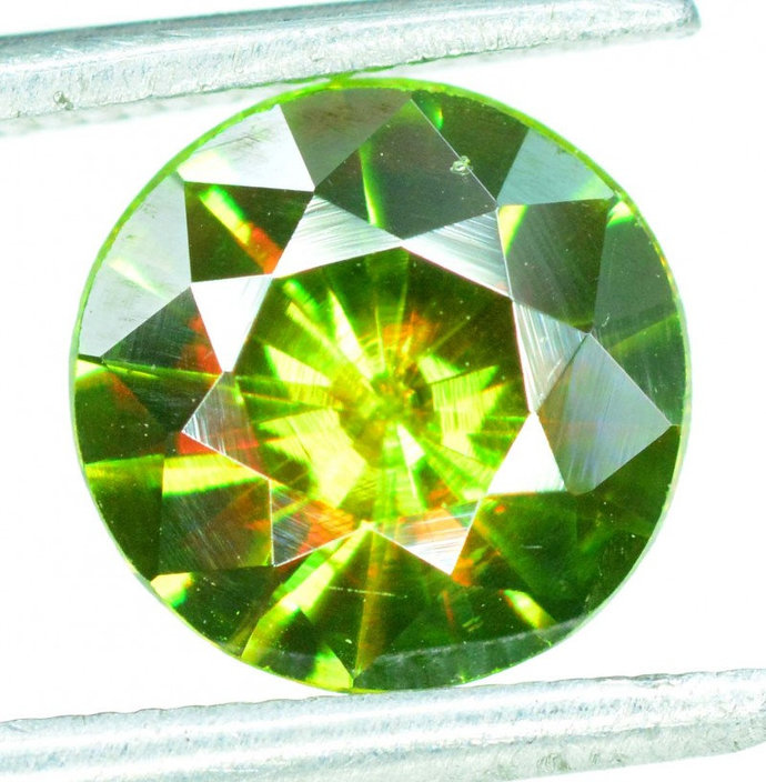 1.30 carats AAA Color Full Fire Natural Chrome Sphene from Skardu Pakistan -