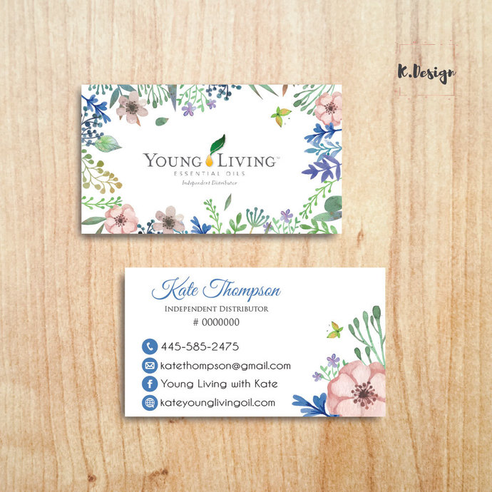 Personalized YLEO Business Cards, Essential Oil Business Cards, Young Living