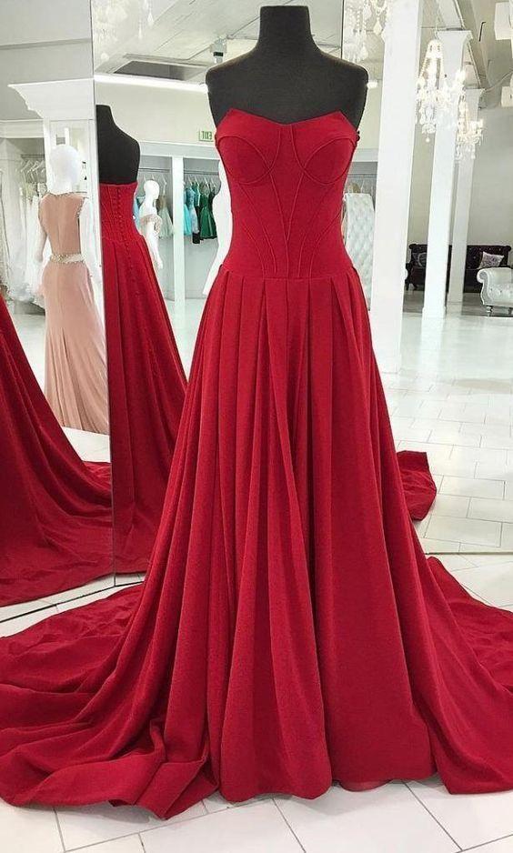17e3464036ff Strapless A-line Long Prom Dresses