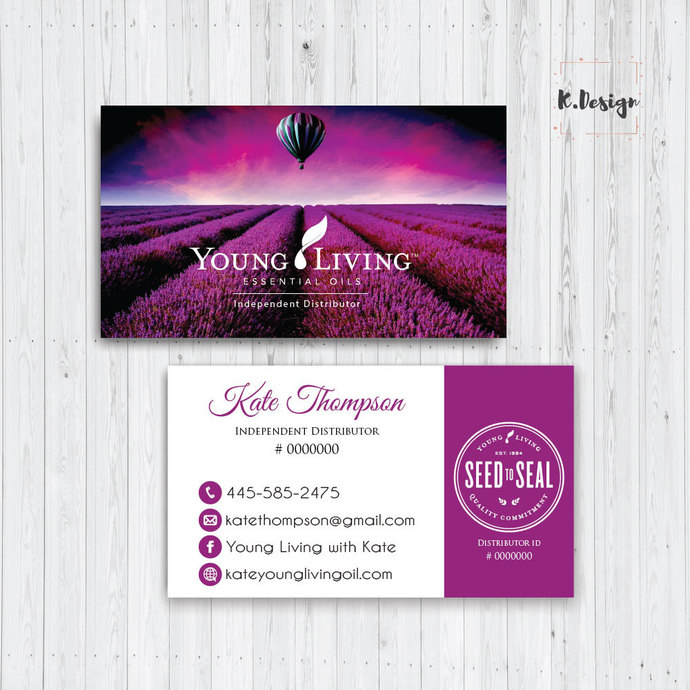 Personalized YLEO Business Cards, Young Living Business Cards, Essential Oil