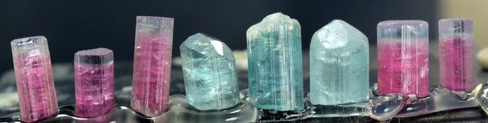 57.50 carats Terminated Multi color Tourmaline Crystals Lot from Afghanistan -
