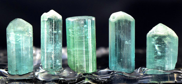 44.85 carats Terminated paraiba color Tourmaline Crystals Lot from Afghanistan -