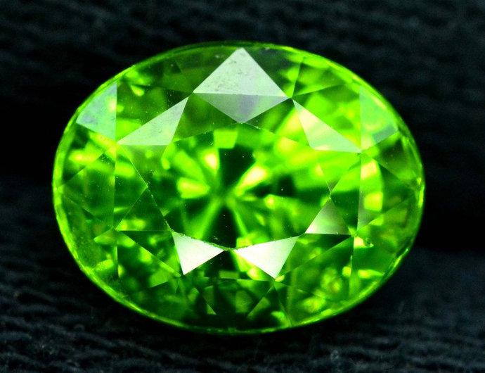 7.60 cts Natural Olivine Green Natural Peridot Gemstone from Supat Mines