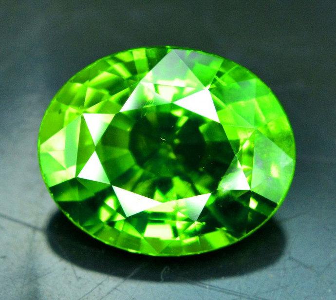 6.60 cts Natural Olivine Green Natural Peridot Gemstone from Supat Mines