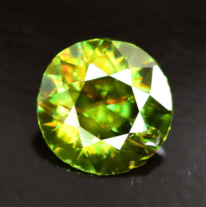1.05 carats AAA Color Full Fire Natural Chrome Sphene from Skardu Pakistan -