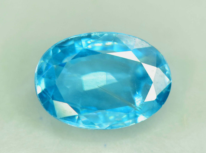 2.09 carats  Blue Zircon Loose Gemstone from Cambodia - 9*6*4 mm