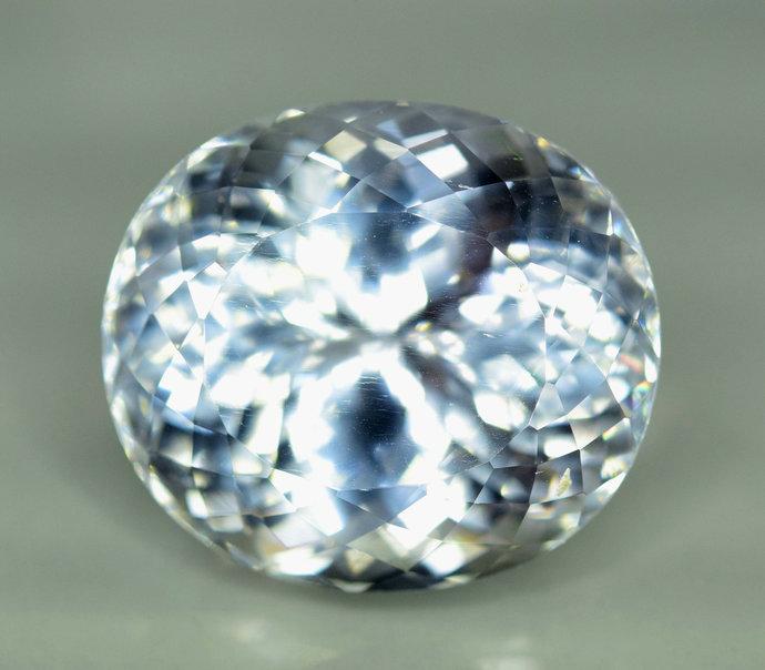 37.35 carats  Aqua Color Natural Spodumene Gemstone ~ 20*18*14 mm